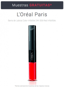 Muestras gratis Pintalabios L'Oréal