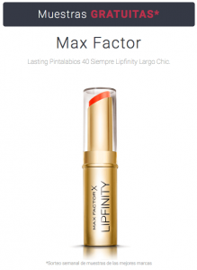 Muestras gratis Pintalabios Max Factor