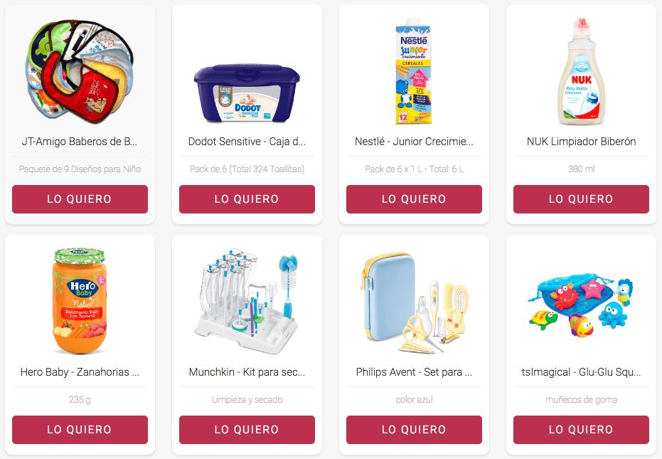 Muestras gratis para Bebés