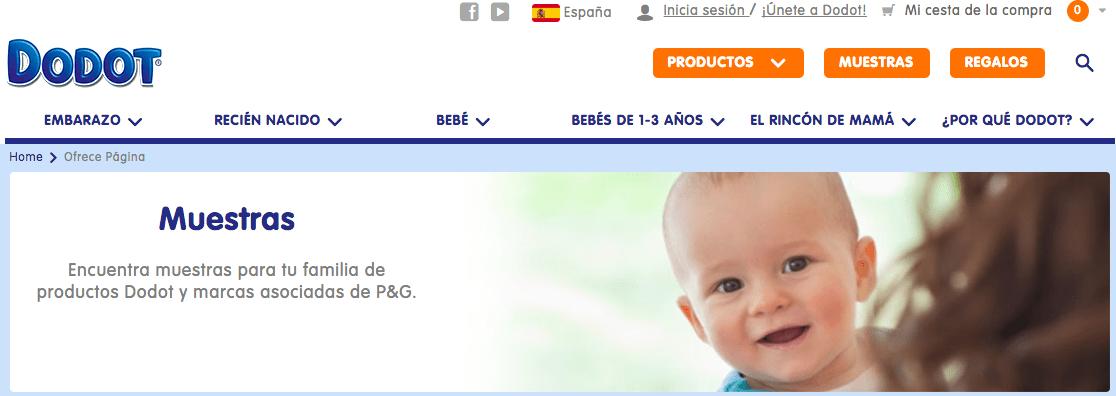 Muestras gratis bebés Dodot