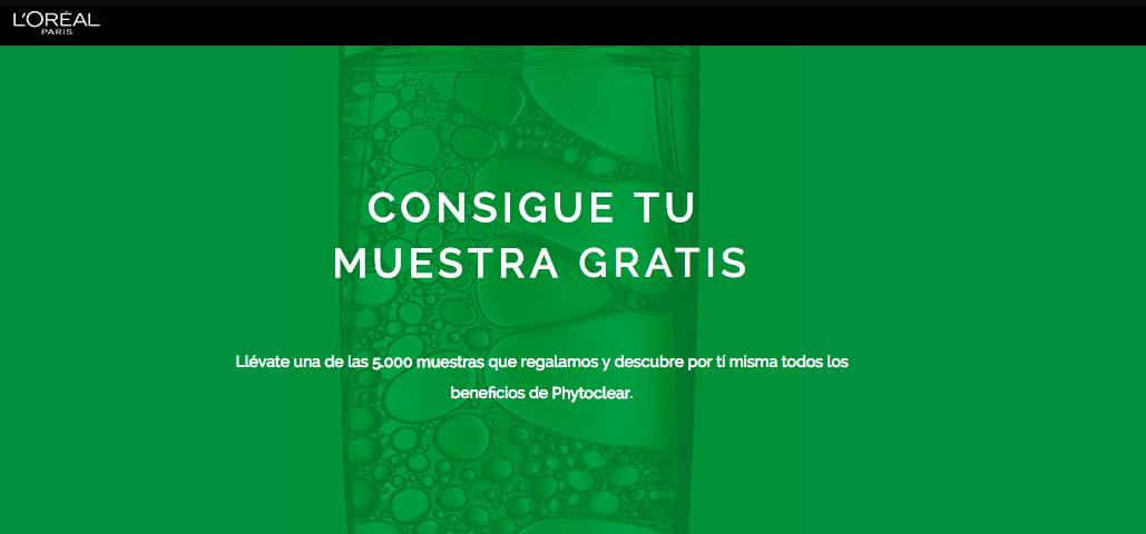 Muestras Gratis L'Oréal Phytoclear