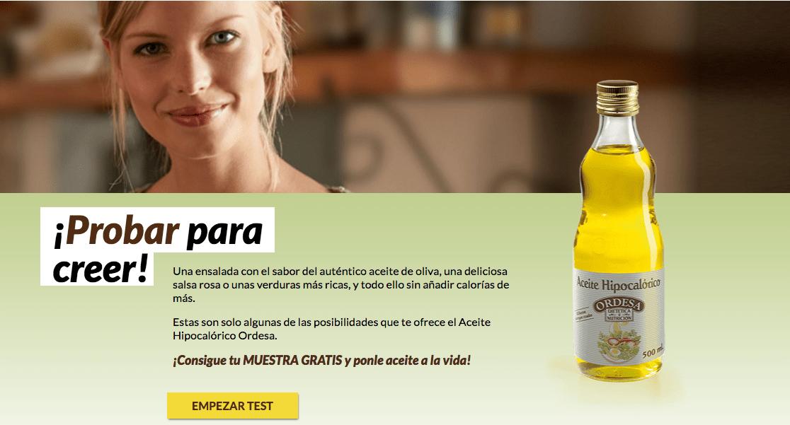 Muestras gratis Aceite de Oliva