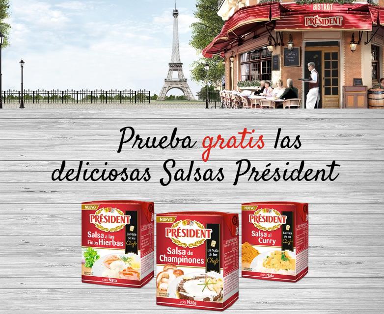 Prueba Gratis las Salsas Président más deliciosas