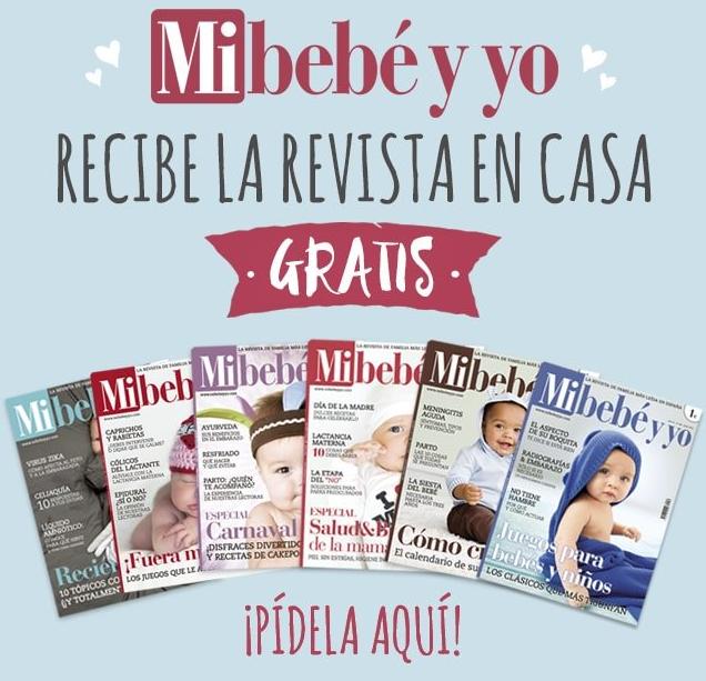 Recibe Gratis la revista Mi bebé y yo