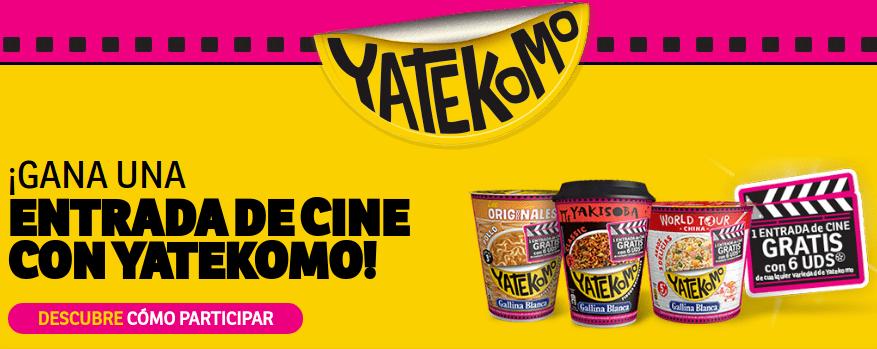 Consigue una Entrada de Cine con Yatekomo