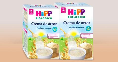 Consigue una Muestra Gratis de HiPP Biológico Crema de Arroz