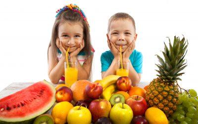 comer los niños en verano