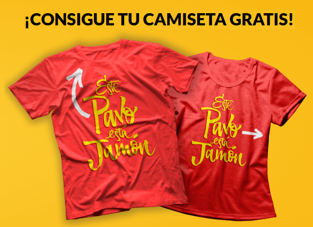 Consigue una camiseta gratis con Argal