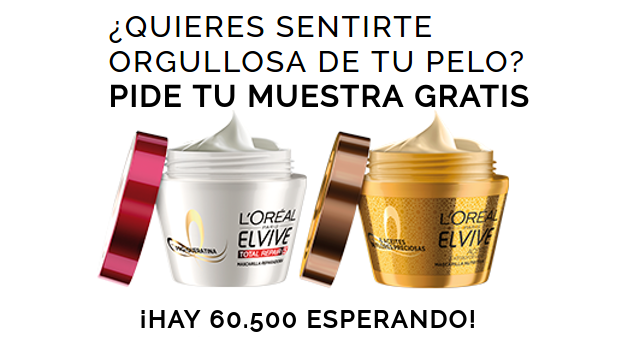 Llévate una de las 60.500 muestras gratis de Mascarillas L'Oréal