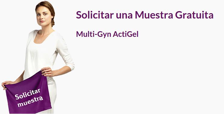 Llévate una Muestra Gratuita del gel íntimo Multi-Gyn ActiGel