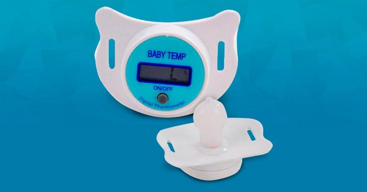 Consigue una muestra gratis del termómetro de chupete Romantic Bear