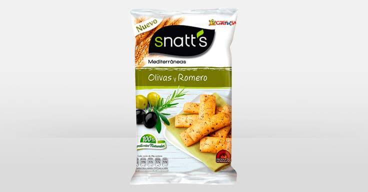 Consigue una muestra gratis de los Snacks Mediterránesos de Snatt's