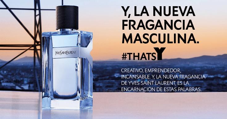 Llévate la muestra gratis del perfume Y de Yves Saint Laurent