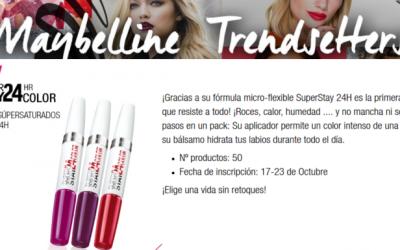 gratis la barra de labios SuperStay 24H de Maybelline