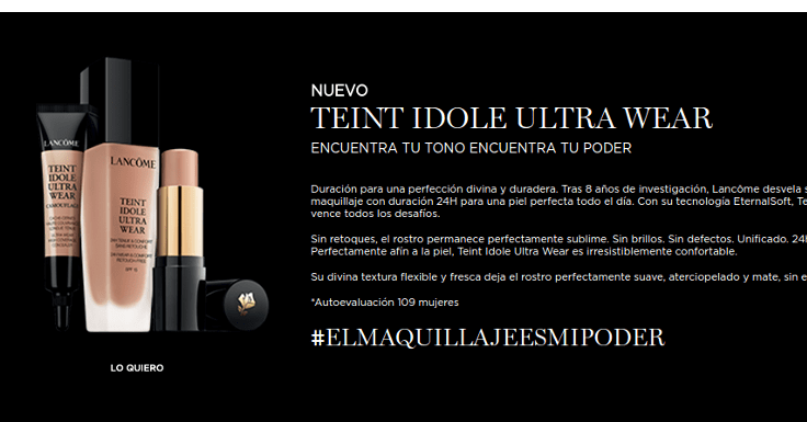 ¡Llévate una muestra gratis de Teint Idole Ultra Wear de Lancôme!