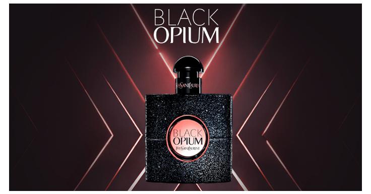 Llévate una muestra gratis del perfume Black Opium de Yves Saint Laurent