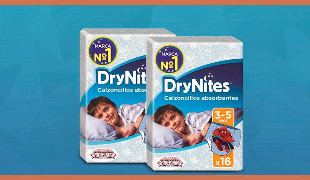 Consigue una muestra gratis de calzoncillos DryNites