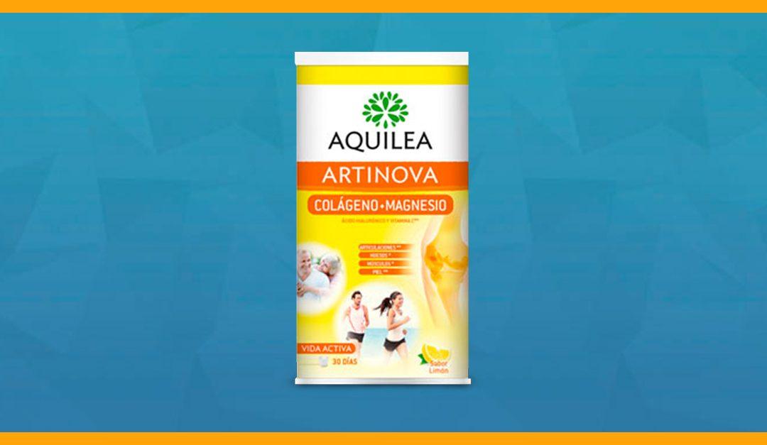 Consigue una muestra gratis de Aquilea Artinova colágeno + magnesio