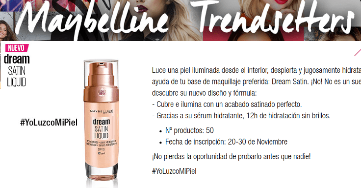 Consigue una muestra gratis de Dream Satin Liquid de Maybelline