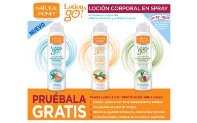 gratis la loción corporal Lotion & go! de Natural Honey