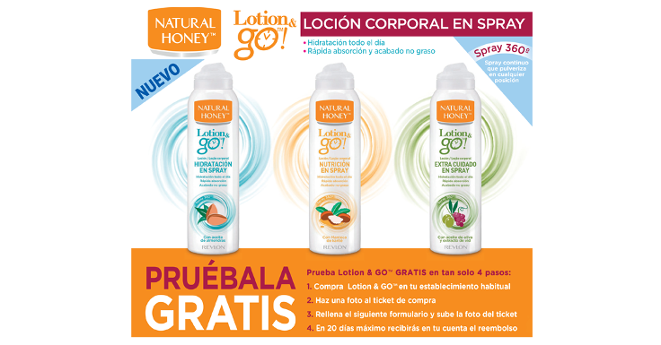 Prueba gratis la loción corporal Lotion & go! de Natural Honey