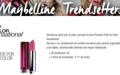 gratis el labial Color Sensational de Maybelline