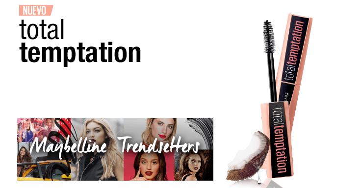 ¡Prueba gratis la nueva máscara Total Temptation de Maybelline!