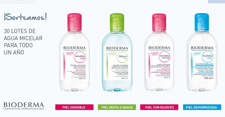 ¡Gana un lote de Agua Micelar Bioderma para todo un año!
