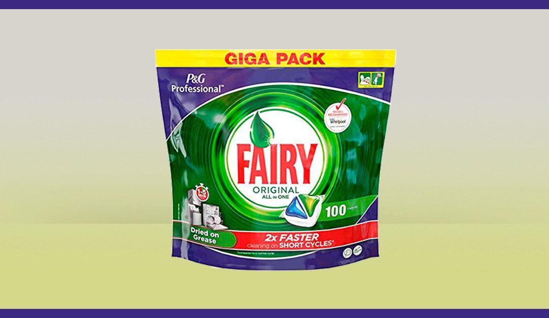 Consigue gratis una muestra de las Cápsulas de Fairy para lavavajillas