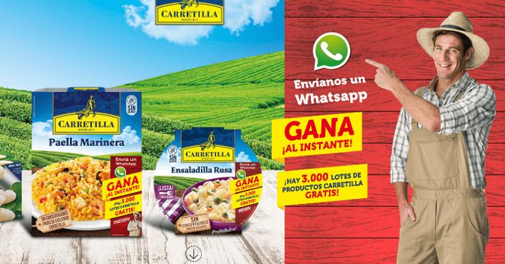 ¡Gana al instante uno de los 3.000 lotes de productos Carretilla!