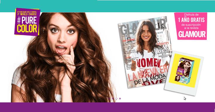 Compra el tinte Pure Color y llévate 1 año gratis de suscripción a la revista Glamour