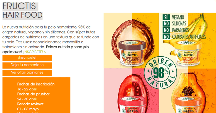 ¡Consigue un pelazo con Fructis Hair Food!