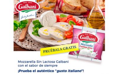 Mozzarella sin lactosa de Galbani