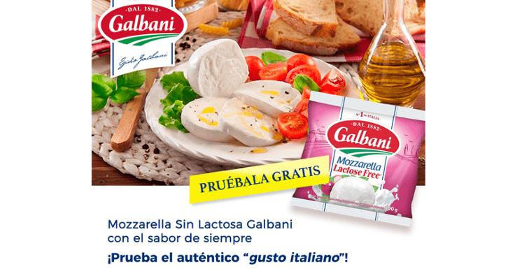 Prueba gratis la Mozzarella sin lactosa de Galbani