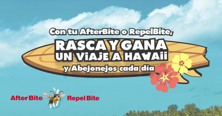 Gana un peluche y un viaje a Hawaii con After Bite y Repel Bite