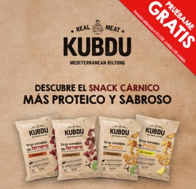 Prueba gratis el nuevo Snack Cárnico Kubdu