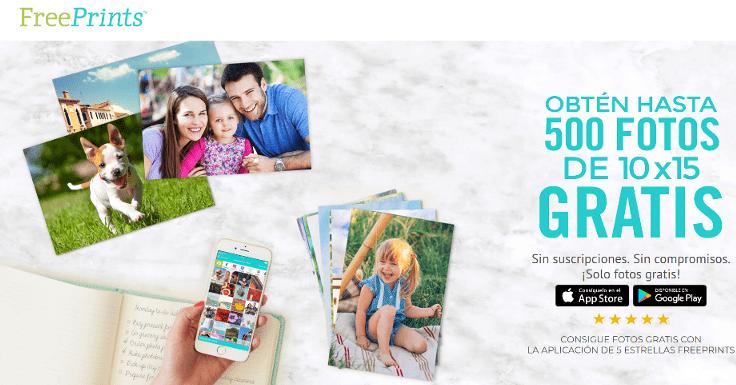 ¡¡Imprime hasta 500 fotos gratis!!