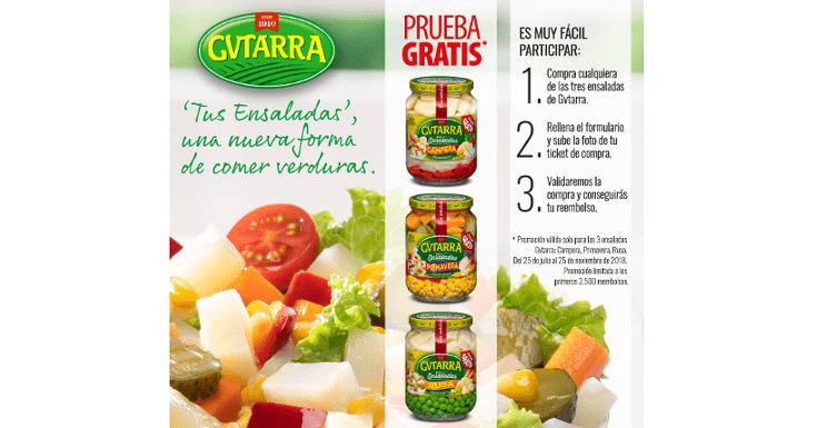 Prueba gratis las ensaladas Gvtarra
