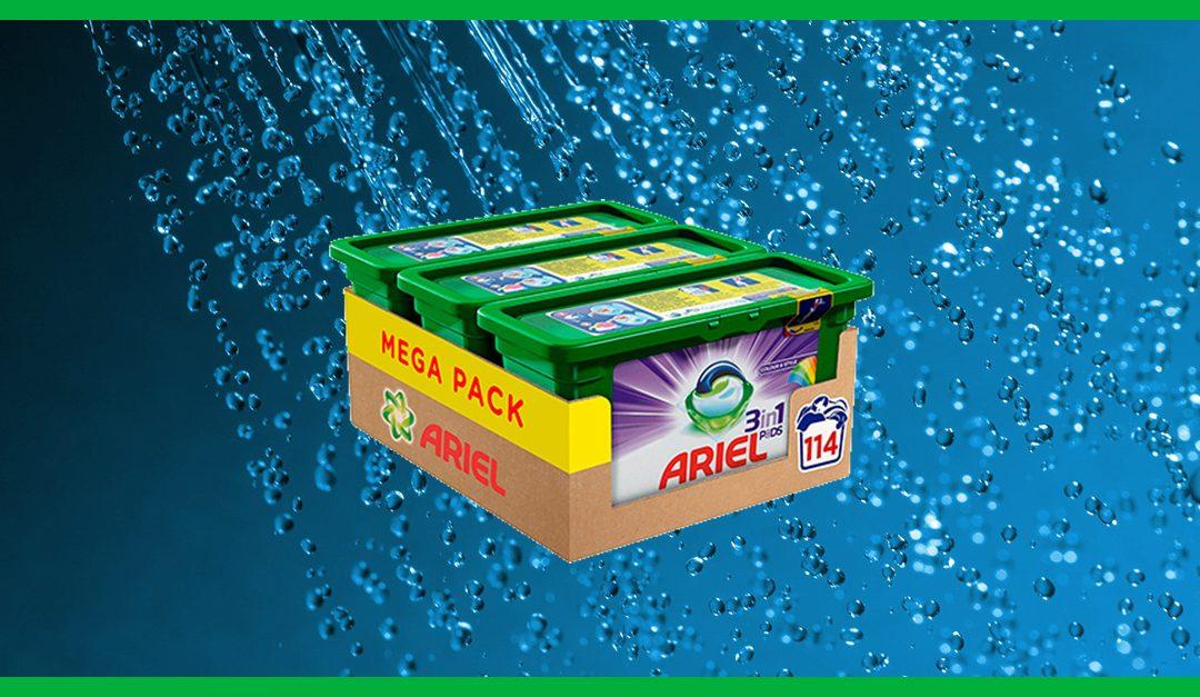 Consigue gratis el detergente Ariel 3 en 1 cápsulas