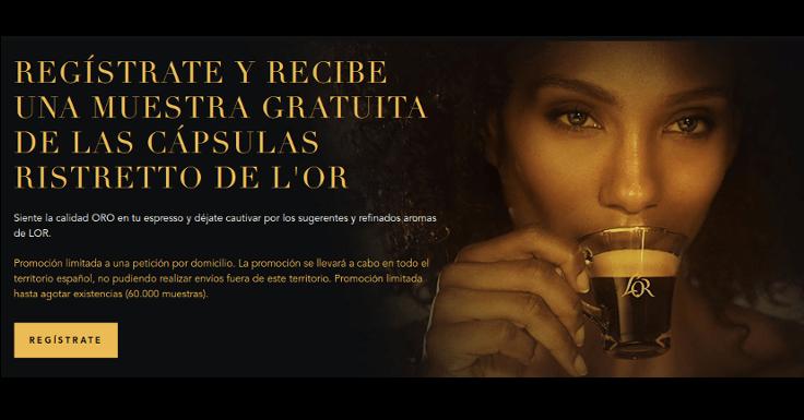 Regístrate y recibe una muestra gratis del café Ristretto de L'Or