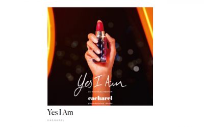 muestra del perfume Yes I Am de Cacharel