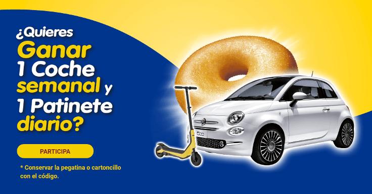 Ahora puedes ganar gracias a Donuts 1 coche o 1 patinete