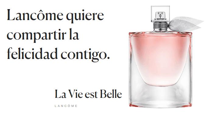 ¡Muestra gratis de La Vie est Belle de Lancôme!